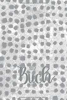 Notizbuch: gepunktetes Notizheft mit Punktecover grau - ca. DIN A5 – 6 x 9 inch – I'm sew happy! Design (German Edition)