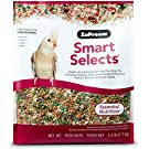 ZuPreem Smart Selects Everyday Feeding Bird Food for Medium Birds - Cockatiels, Quakers, Lovebirds, Small Conures