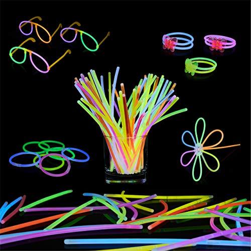 Bramble 543 Pack de Barras Luminosas - 250 Varitas Luminosas, 293 Conectores | Multicolor Pulseras Fluorescentes Glow Sticks | Collares, Gafas, Bolas, Flores