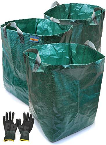 Dinámica de plástico ® X3para uso pesado saco de jardín 120l (45x 45x 60cm)
