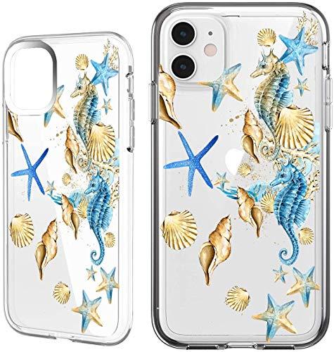 Shark Summer Aloha Ocean Collection Sea Shell sea Turtle Clear Back case for Samsung Galaxy S8 Plus