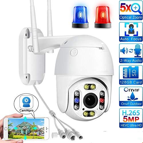 PTZ Dome 1080P WiFi CCTV Outdoor bewakingscamera H.265/H.264, 5-voudige automatische zoom met 2,7-13,5mm lens, 355° panorama / 90° kanteling / nachtzicht / bewegingsdetectie 1080P-32GB(3.6MM)