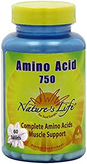 Nature's Life Amino Acid Tablets, 750 Mg, 60 Count