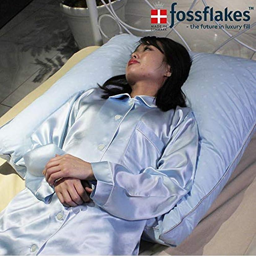 指紋日偽フォスフレイクス (fossflakes) ロイヤーレ ハーフボディピロー 80×80cm
