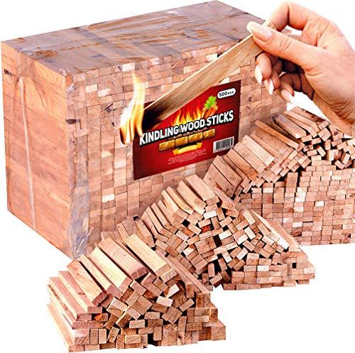 Kindling Wood Sticks 500pc - Fire Starter Sticks for Campfires and Fireplace - Natural firestarters from 100% Oak