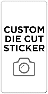"""500 Rectangle Custom Die Cut Stickers 3"""" x 6"""" for Laptops, Windows, Cell Phones, Cars. Upload Your own Image, Logo, or Des..."""