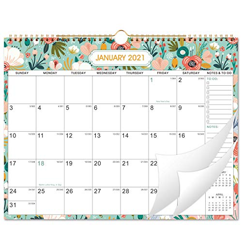 "2021 Calendar - Monthly Wall Calendar 2021 with Julian Dates, 15"" x 11.5"", Jan 2021 - Dec 2021"