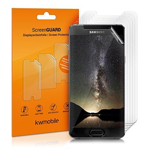 kwmobile 6X Folie für Samsung Galaxy A5 (2016) - klare Bildschirmschutzfolie Bildschirmschutz Crystal Clear kristallklar Bildschirmfolie Schutzfolie