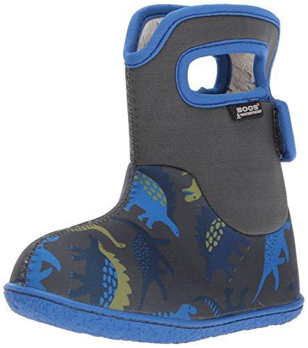 Bogs Kinder Gummistiefel Baby Bog Classic Dino Warmfutter Waschbar Jungen Dino Grau Blau