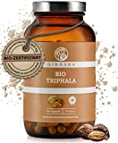 QIDOSHA® Bio Triphala Kapseln hochdosiert aus dem Ayurveda, 180 Stk, 500mg Triphala Pulver bio je Kapsel, vegan, laborgeprüft