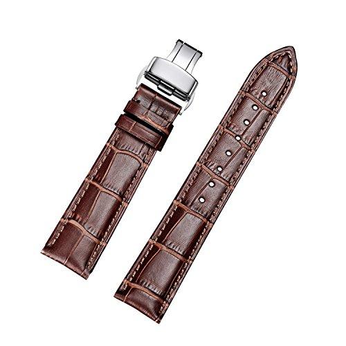 Cinturino orologio jiexima in pelle di vitello con fibbia deployante (24...