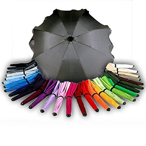 BAMBINIWELT Sonnenschirm für Kinderwagen Ø68cm UV-Schutz50+ Schirm Sonnensegel Sonnenschutz (Dunkelgrau)