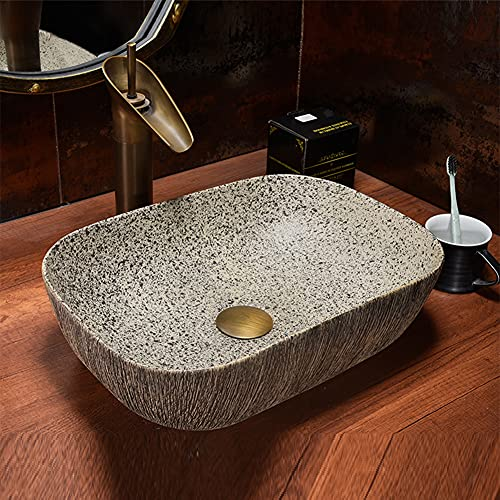 MNSSRN Arte del Lavabo Retro de la Lavabo del Lavabo del Lavabo Retro del Lavabo del tamaño del baño