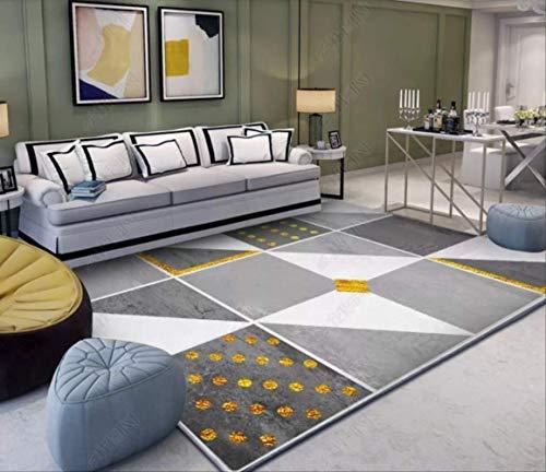 ZhenHe Alfombra suave fácil de limpiar para interiores, sala de estar, sofá, mesa de café, dormitorio, cama frontal, simple y moderna, apta para dormitorio, sala de estar, habitación de los niños