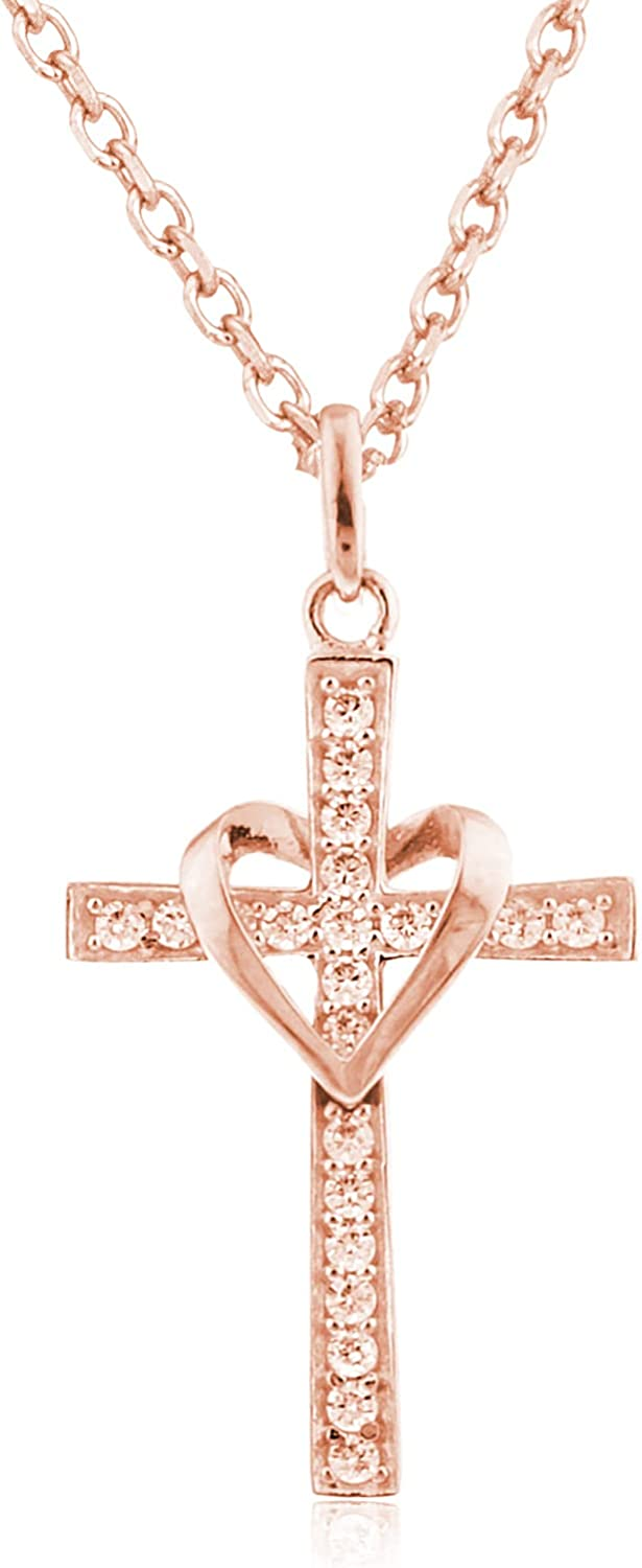 10k Gold Heart Cross Daily bargain sale Pendant Inch Sale an with 18 Necklace