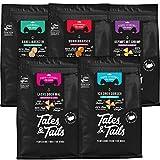 Tales & Tails® - Hunde Leckerlis aus 100% Fisch | Probepaket mit 5 Sorten Hundesnacks | Natürlich, Zuckerfrei, Getreidefrei, reich an Omega 3 | Je 1x Dorsch, Lachs, Shrimp, Kabeljau,...