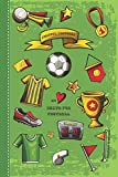 Diario de consciencia para niños: diario de mindfulness para un pensamiento más positivo y amor propio - para 4 meses - Libro de regalo para niño - motivo fútbol