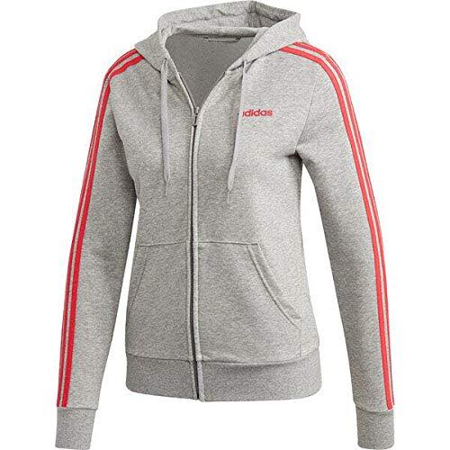 Adidas Damska bluza W E 3S FZ HD, średnio szara wrzosowa/rdzeń różowy, S