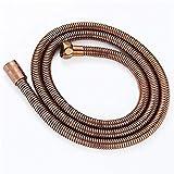 Weirun Manguera de ducha de mano de acero inoxidable flexible de 1,5 m, para baño, 59 pulgadas, oro rosa o cobre antiguo