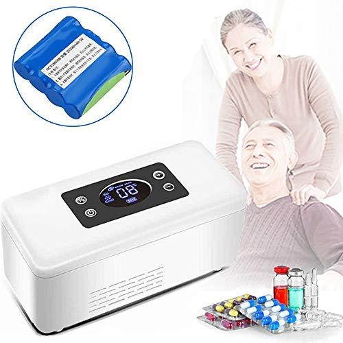 Nevera Portatil Insulina, Mini Refrigerador PortáTil Enfriador de Insulina de Insulina 2 ~ 8 ℃, con Espacio de RefrigeracióN: 174 * 48 * 24 mm para AutomóVil, Viaje (BateríA Incorporada),Singlebattery