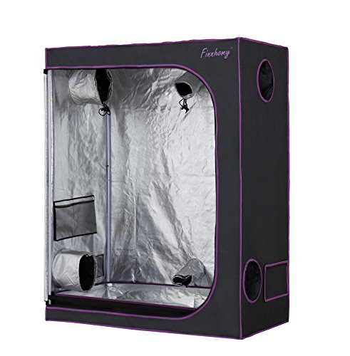 "Finnhomy Grow Tent (48""x 24""x 60"") 600 D Mylar Hydroponic Grow Tent with Observation..."
