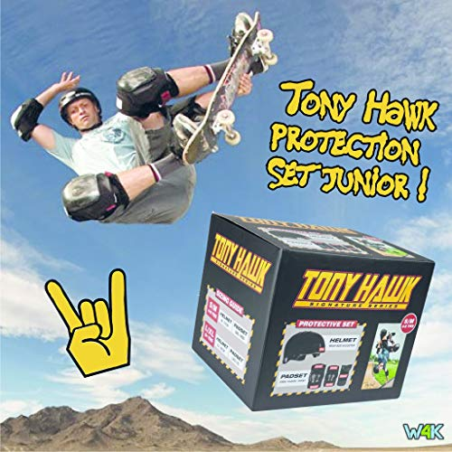 Tony Hawk Helmet & Padset 4-8 Yrs Kit de protección, Juventud Unisex, Black/Red (Multicolor), s/m