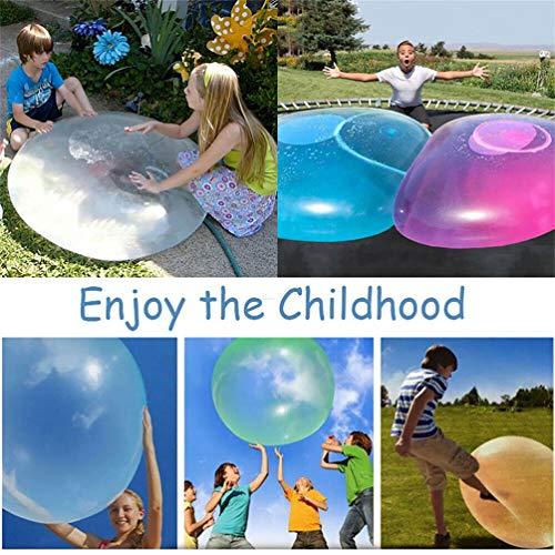 FFOMG 2 Piezas Big Amazing Bubble Ball Bolas de Goma interactivas llenas de Agua Bola de Burbujas de Aire Suave al Aire Libre Globo Inflable, Bola de Burbujas Inflable mágica para niños (Azul, 50cm)