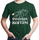 HARIZ Jungen T-Shirt Indianer Kostüm Karneval Kostüm Plus Geschenkkarte Dunkel Grün 164/14-15...