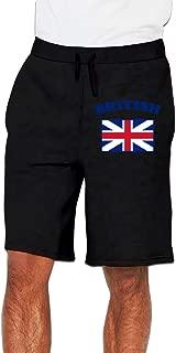 Nx55Ol@KU Men's Fashion British Flag Jogger Sweatpant Workout Gym Shorts
