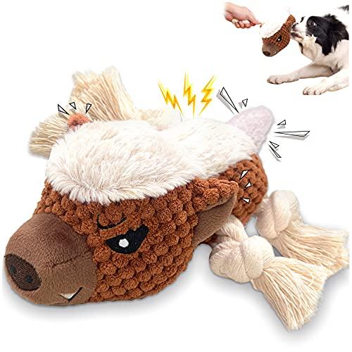 HORYDIA Kuscheltier Hundespielzeug Plüschtier Interaktives Hunde Spielzeug, Hundespielzeug Quietschend, Kauspielzeug für Hunde, Die Langeweile Reduzieren, Honig Dachs. (MH)