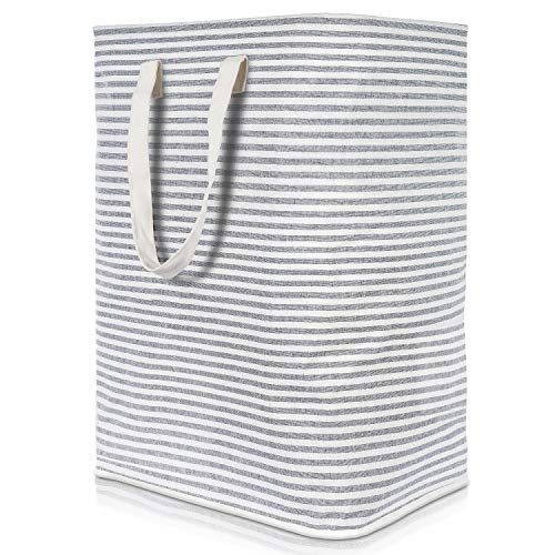 Lifewit 236quot Freestanding Laundry Hamper Clothes Hamper Large Basket with Extended Handles for Storage Clothes Toys in Bedroom Bathroom Foldable Grey