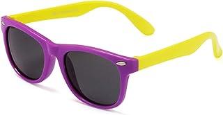 XUSUER - Niños UV Gafas de Sol Niños Gafas de Sol para niñas Boys Baby Glasses Retro Gafas