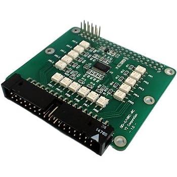 ワイツー I2C フォトリレー出力ボード ラズベリーパイ拡張ボード DIO-0/16RC-IRC