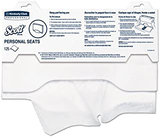 Scott 07410CT Personal Seats Sanitary Toilet Seat Covers, 15-Inch x 18-Inch, 125/Pack, 3000/Carton