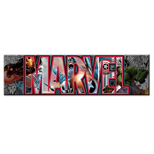 Silver Buffalo AV2891 Marvel Canvas Wall Art Avengers Letters, 30 x 12 inches