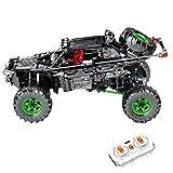 LOTSOFUN Technik Sembo 8880 RC Off-Road Buggy con 2 motores monstruos, mando a distancia y luz, Monster Truck Camión, compatible con Lego Technic – 1233 piezas