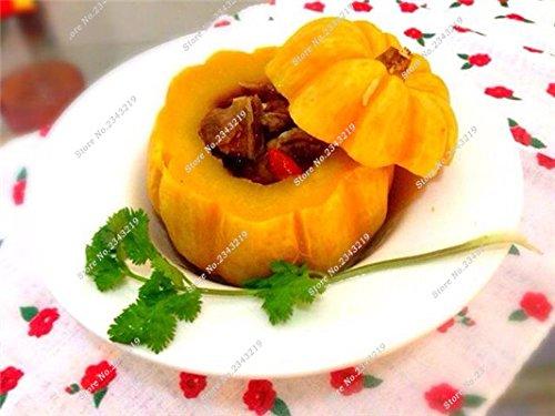 Graines de citrouille Cucurbita fil d'or fruits citrouille melon et légumes des semences meilleures ventes de l'extérieur, Bonsai 30 Plantes en pot 3 pièces