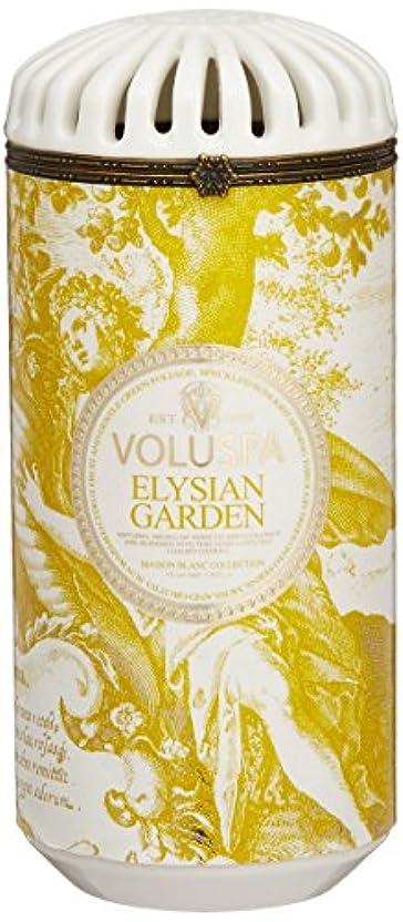 つぼみ投資するアトミックVoluspa ボルスパ メゾンブラン セラミックキャンドル エリシアンガーデン MAISON BLANC Ceramic Candle ELYSIAN GARDEN
