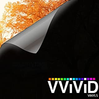 VViViD Removable Low-Tack Adhesive 100% Blackout Household Privacy Window Vinyl Decal Roll (12 Inch x 60 Inch)