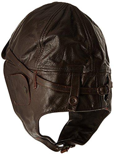 Mil-Tec Cappellino da Aviatore da Uomo in Pelle