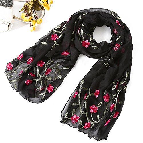 Chal de playa 2021 nueva marca de mujer bufanda primavera verano bufandas chales y envolturas señora pashmina playa estolas hijab foulard (Color: Negro)