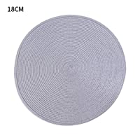 TOSPRA ランチョンマット 円形 プレースマット 卓上飾り 編みこみ テーブルマット 耐熱性 防汚 水洗いOK お手入れ 簡単 滑り止め 摩擦 耐える 家庭用