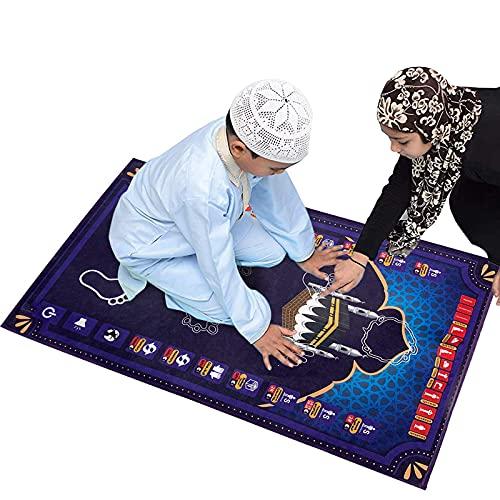 Tapis de prière électronique Sajadah pour enfants, couverture de prière islamique avec fonction record, méditation, trajet, musulmans, grand cadeau pour musulmans.