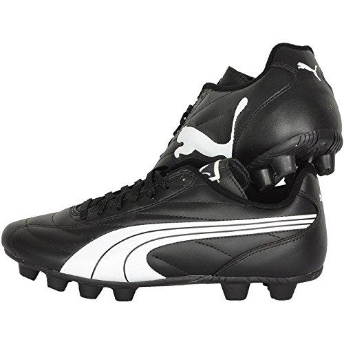 PUMA Kid's Shoes Quaranta R HG Junior Black/White Soccer Cleats Sneakers (Numeric_11)
