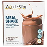 WonderSlim Meal Replacement Shake, Chocolate Cream, 24 Essential Vitamins & Minerals, Only 100 Calories, 15g Caseinate Protein, Aspartame Free, Unbeatable Taste, Low Fat, Kosher - 7 Servings