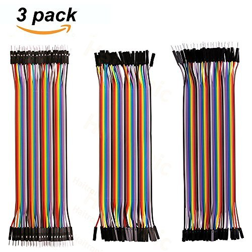 Haitronic 120pcs 20cm Length Jumper Wire/Dupont Cable Multicolored(10 Color) 40pin M