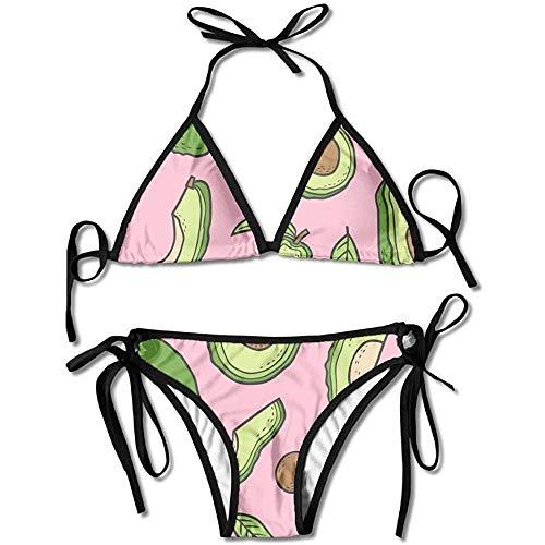 KL Decor Traje De Baño,Conjunto De Bikini De Vendaje De Baño De Aguacate para Mujer Traje De Baño De Sujetador Acolchado Push-Up