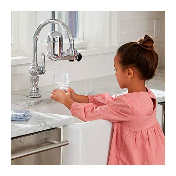 PUR FM-3700 Advanced Faucet Water Filter, Chrome 5 Advanced Faucet Filtration System: Featuring Sinple One Click Tool Free Attachment, There's Never Been an Easier or More Reliable Way to Get Healthier, Cleaner, Great Tasting Water Straight From Your Faucet Faucet Water Filter; PUR faucet filters provide 100 gallons of filtered water, or 2 3 months of typical use, before you need a replacement. Only PUR faucet filters are certified to reduce contaminants in PUR faucet filter systems WHY FILTER WATER? Home tap water may look clean, but may contain potentially harmful pollutants & contaminants picked up on its journey through old pipes. PUR water filters, faucet filtration systems & water filter pitchers reduce these contaminants