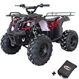 X-PRO ATV for Sale 125cc ATV Quad Youth 4 wheeler ATVs Big Kids Adults ATV Four Wheelers (Burgundy)