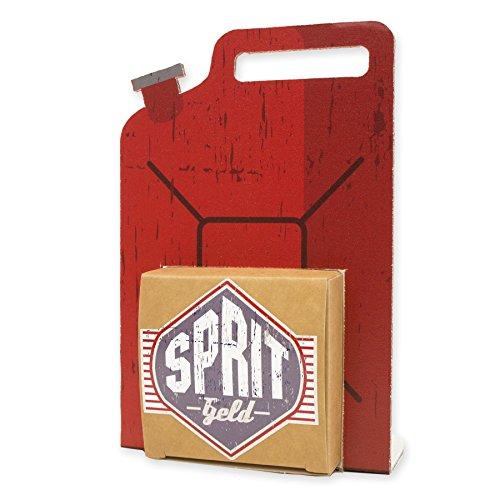 itenga Geldgeschenk oder Gastgeschenk Verpackung Benzinkanister Spritgeld aus Karton 15x10cm